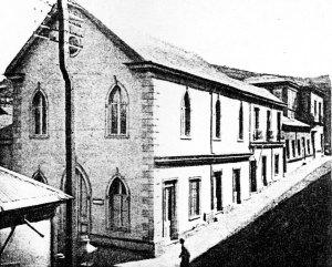 Templo y casa pastoral 1884